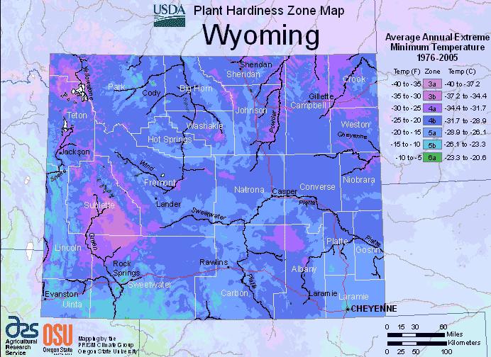 Wyoming growing zones USDA